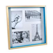 Painel para foto natural azul para 04 fotos