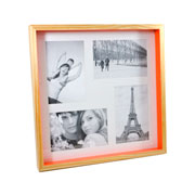 Painel para foto natural laranja para 04 fotos