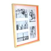 Painel para foto natural laranja para 05 fotos