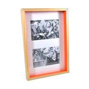 Painel para foto natural laranja para 02 fotos