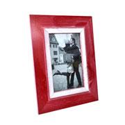 Porta retrato rústico vermelho 10x15 cm