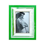 Porta retrato rústico verde 10x15 cm