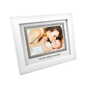 Porta retrato branco eu e minha mamãe 10x15 cm