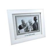 Porta retrato branco eu e meus avós para foto 10x15 cm