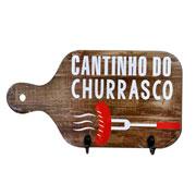 Porta chaves marrom cantinho do churrasco