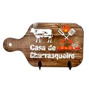 Porta chaves marrom casa de churrasqueiro