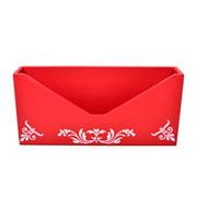 Porta cartas colonial vermelho