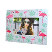 Porta retrato flamingo 15x10 cm