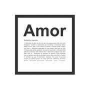 Quadro decorativo Amor 27x27 cm