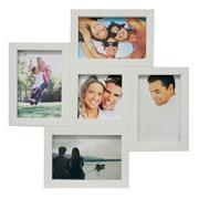 Painel de fotos branco para 05 fotos