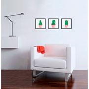 Quadro decorativo preto Cactus 22,5 cm