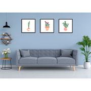 Quadro decorativo preto Cactus 32,5 cm