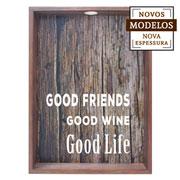 Quadro porta rolhas good friends 37x52x7 cm