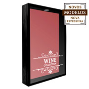 Quadro porta rolhas Wine Collection 32x42x7 cm