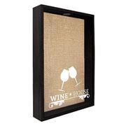 Quadro porta rolhas Wine House 32x42x7 cm