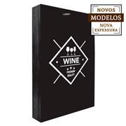 Quadro porta rolhas Wine Premium 32x42x7 cm