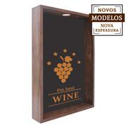Quadro porta rolhas the best wine  37x52x7 cm