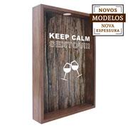 Quadro porta rolhas keep calm sextou  37x52x7 cm