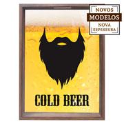 Quadro porta tampinhas Cold Beer 38x53x7 cm