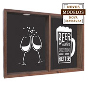 Quadro duplo beer makes everything 37x52x7 cm