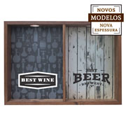 Quadro duplo best wine/ best beer 37x52x7 cm.