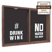 Quadro duplo drink wine/ no water yes beer 37x52x7 cm.