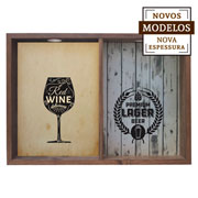 Quadro duplo red wine/ lager beer 37x52x7 cm.