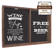 Quadro duplo wine improves/ free beer 37x52 cm.