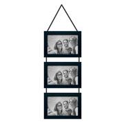 Porta retrato trio preto 10x15 cm