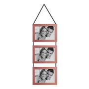 Porta retrato trio cobre 10x15 cm