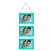 Porta retrato trio verde 15x10 cm