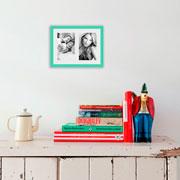 Porta retrato frame insta verde 10x15 cm