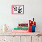Porta retrato frame insta coral 10x15 cm