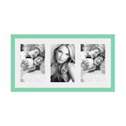 Porta retrato frame insta verde para 03 fotos 10x15 cm
