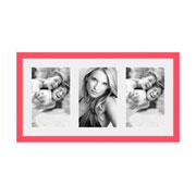 Porta retrato frame insta coral para 03 fotos 10x15 cm
