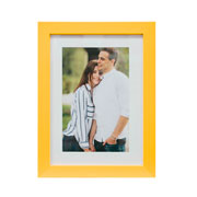 Porta retrato frame insta amarelo 10x15 cm