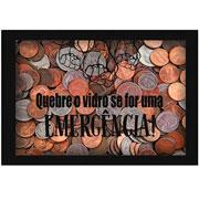Quadro cofre de madeira Quebre 17x12 cm
