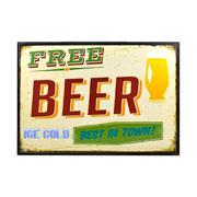 Quadro free beer decorativo 20x30 cm