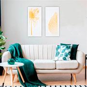 Quadro de madeira folha 65x30 cm