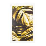 Quadro de madeira folhas verdes I 55x35 cm