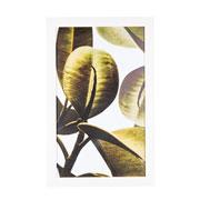 Quadro de madeira folhas verdes II 55x35 cm
