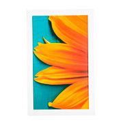 Quadro de madeira flor amarela I 55x35 cm