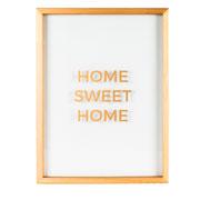 Quadro de vidro Home 41x31 cm