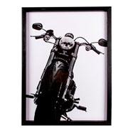 Quadro de madeira preto Harley I 31x41 cm