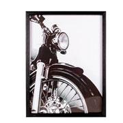 Quadro de madeira preto Harley II 31x41 cm