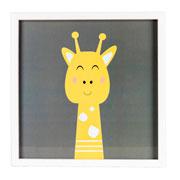 Quadro de madeira girafa 32x32 cm