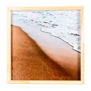 Quadro de madeira praia 32x32 cm