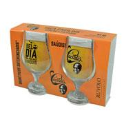 Jogo de Taças de vidro Beer Master Cacildis 380 ml 02 peças