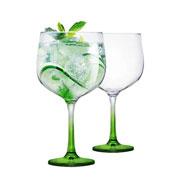 Jogo de taças para gin gambo verde 705 ml 02 peças