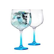 Jogo de taças para gin gambo azul 705 ml 02 peças